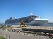 大きな船を見に行きました